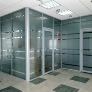 Profiles for office partitions